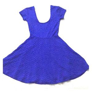 Urban Outfitters blue/purple Fit n Flare dress